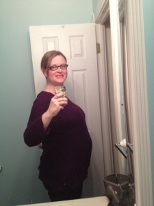 31ish Weeks: The point at which you become big enough that hobos stop you and ask if you've got any names picked out.