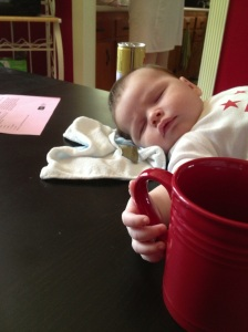 Charlie knows the importance of a strong cup of coffee in the morning. (Photo by Andy Langsdorf.)