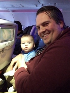 Best airplane baby ever.