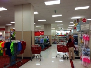 The labyrinthine Columbia Heights Target: Miles and miles of questionable fashion choices for you and your baby.